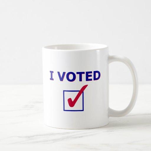 I Voted Classic White Coffee Mug