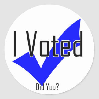 I Voted Did You Sticker
