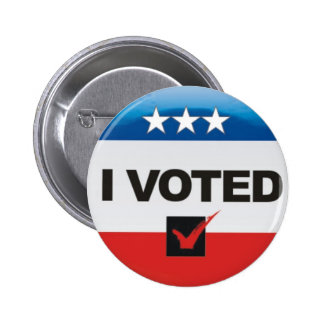 I Voted Election 2016 Day Simple, Non-Partisan Pinback Button