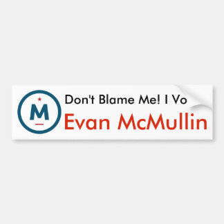 I Voted Evan McMullin! Bumper Sticker