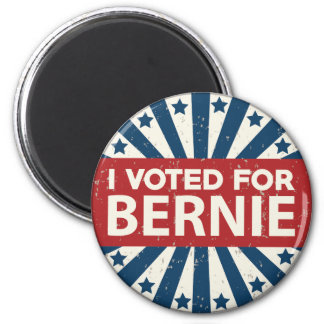 I Voted For Bernie 2 Inch Round Magnet
