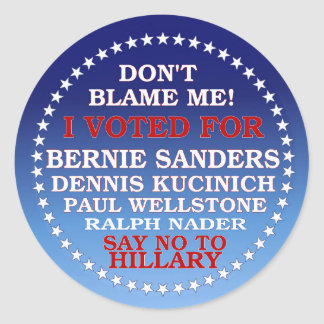 I Voted for Bernie! Classic Round Sticker