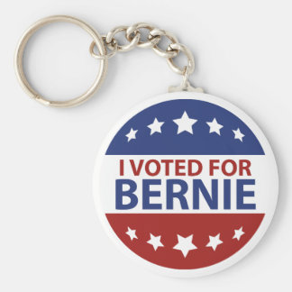 I Voted For Bernie Keychain