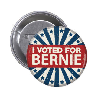 I Voted For Bernie Pinback Button