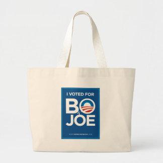 I Voted For Bo & Joe Jumbo Tote Bag
