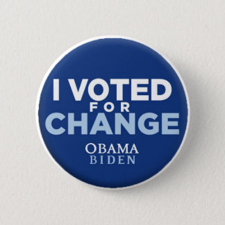 I Voted for Change Button