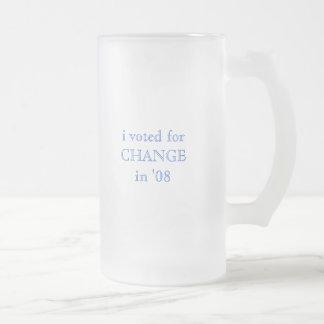 i voted for CHANGE in '08 Mug