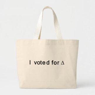 I Voted for Change Large Tote Bag