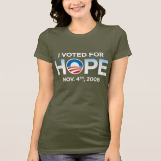 I Voted For Hope Ladies T-Shirt