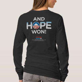 I Voted For Hope Long Sleeve Ladies Shirt
