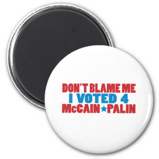 I Voted for McCain Palin 2 Inch Round Magnet