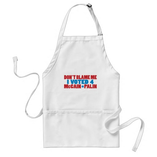 I Voted for McCain Palin Apron