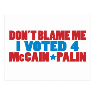 I Voted for McCain Palin Postcard