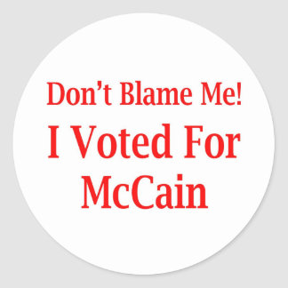 I Voted For McCain T-shirts Stickers