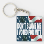 I Voted For Mitt Acrylic Keychains