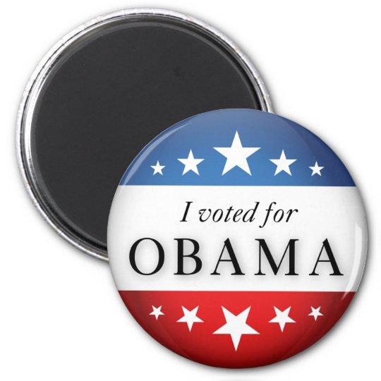 I voted for Obama 2 Inch Round Magnet