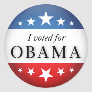 I voted for Obama Classic Round Sticker