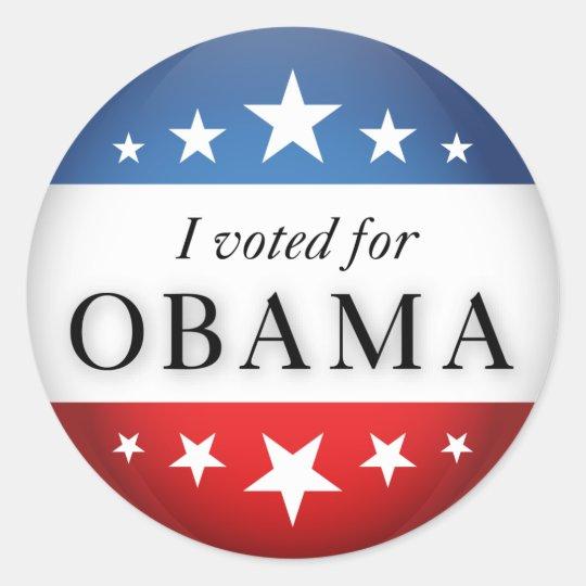 I voted for Obama Classic Round Sticker