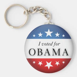 I voted for Obama Keychain