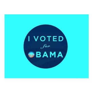 I Voted for Obama postcard