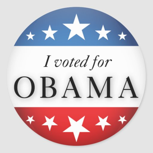 I voted for Obama Stickers