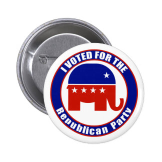 I Voted for Republican the Party Pinback Buttons