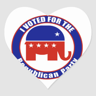 I Voted for Republican the Party Heart Stickers