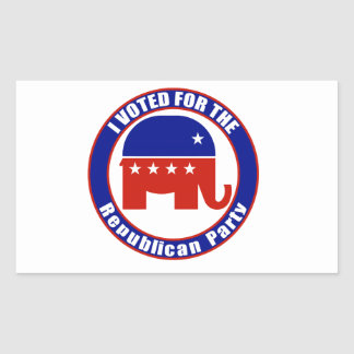 I Voted for Republican the Party Rectangular Sticker