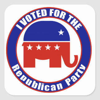 I Voted for Republican the Party Square Sticker