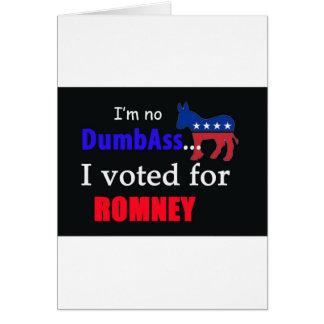 I voted for Romney Card