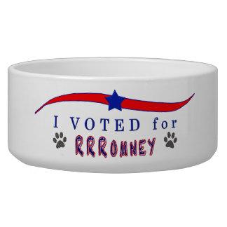 I Voted for Romney Doggie Bowl Dog Water Bowls