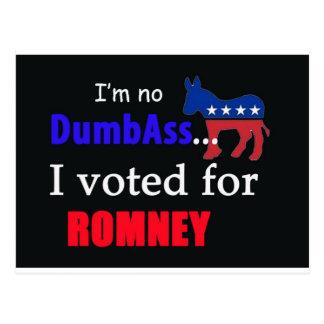 I voted for Romney Postcard
