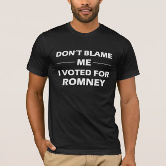 I Voted For Romney T-Shirt
