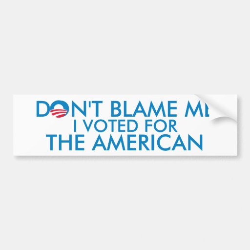 I Voted for The American Car Bumper Sticker