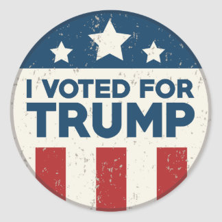 I Voted For Trump Classic Round Sticker