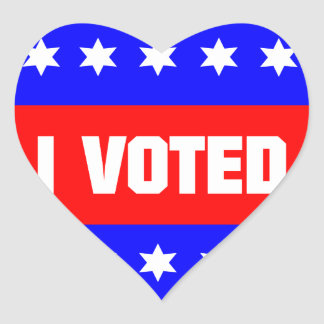 I Voted Heart Sticker