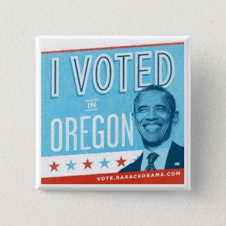 I Voted in Oregon for Obama Pinback Button