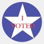 I VOTED.jpg Round Stickers