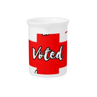 i voted leave beverage pitcher