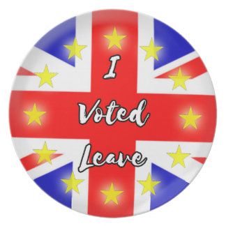 i voted leave plate