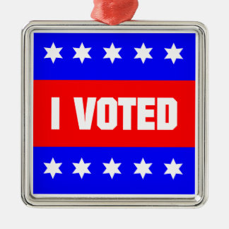I Voted Metal Ornament