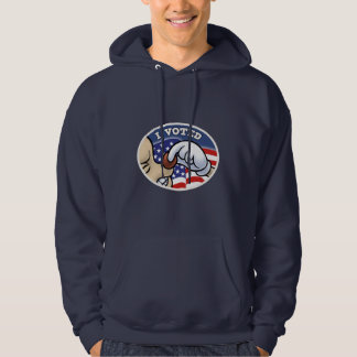I Voted Nose Hoodie