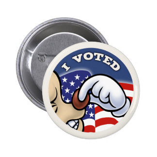 I Voted Nose Pinback Button