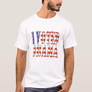 I Voted OBAMA american flag tshirt