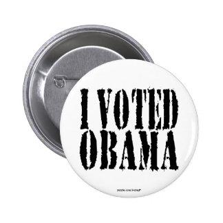 I Voted OBAMA button