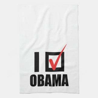 I VOTED OBAMA BW -.png Towel