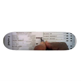 I voted Obama Skateboard
