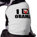 I Voted Obama T-shirt Dog Clothing