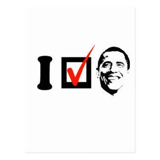 I Voted Obama T-shirt Postcard