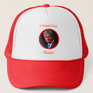 I Voted Out Harper Trucker Hat